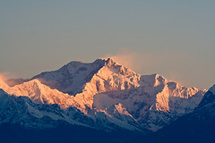 The spectacular Kangchenjunga sunrise Photo credit aaron ostrovsky